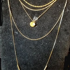 Jewelry - Vintage 5 layer necklace